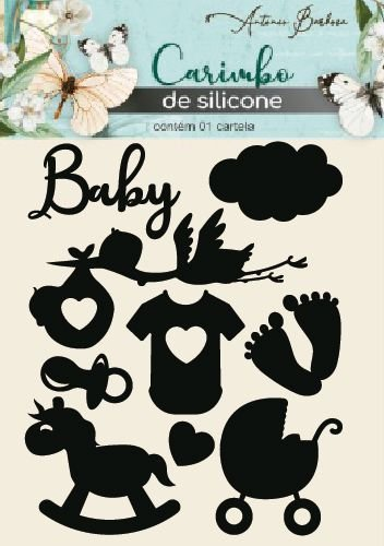 Carimbo De Silicone Baby - 105 X  160 mm - Scrap By Antonio