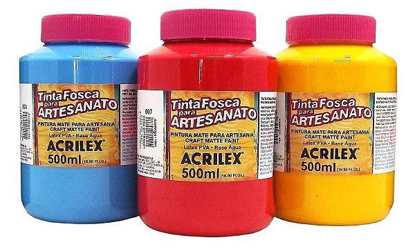 Tinta PVA Fosca para Artesanato Acrilex 500 ml