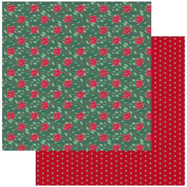 Papel Scrapbook - Scrap By Antonio - Meu Natal Colorido 200556 - Natal Floral