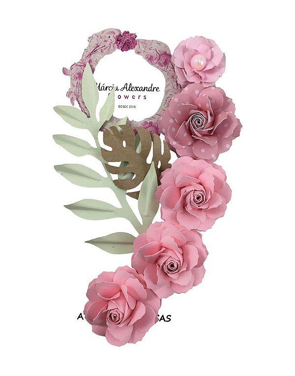 Flores de Papel P/Scrapbook Licor De Rosas Joanna
