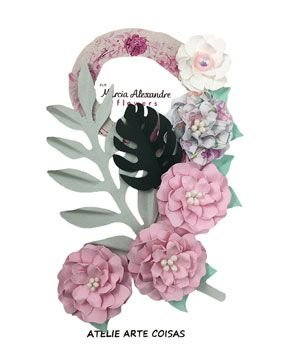 Flores de Papel P/Scrapbook Licor De Rosas Julia