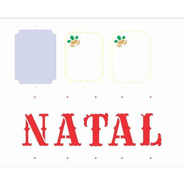 Stencil 20X25 Simples Tag Natal  - Opa 3011