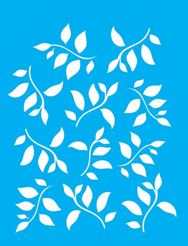 Stencil 32×42 Simples – Folhas 2 – OPA 1423