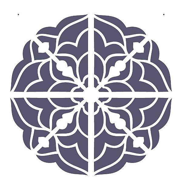 Stencil Simples 30,5 x 30,5 Mandala 3 Camada 1 - Opa 2299