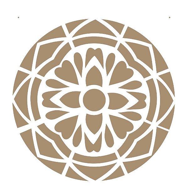 Stencil Simples 30,5 x 30,5 Mandala 1 Camada 1 - Opa 2295