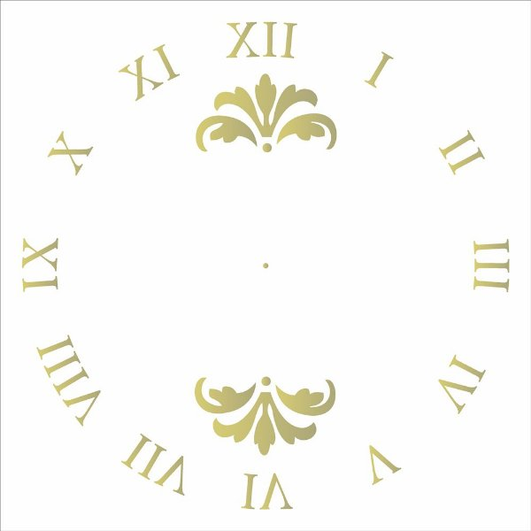 Stencil Simples 30,5 x 30,5 Relógio 2  - Opa 2103