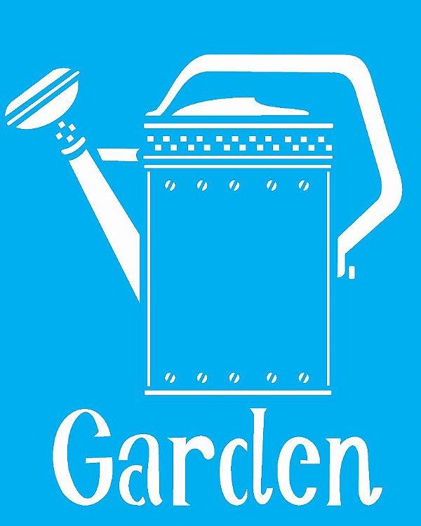 Stencil 20X25 Simples Regador Garden - Opa 1832