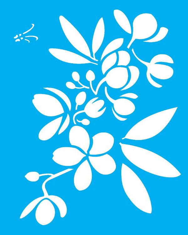 Stencil 20X25 Simples Flor Casiruba - Opa 2058