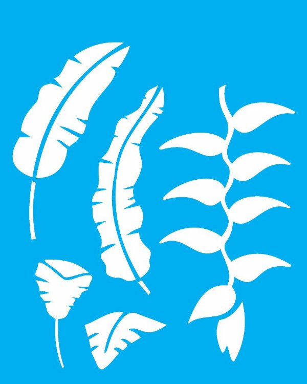 Stencil 20X25 Simples Flor Heliconia - Opa 2063