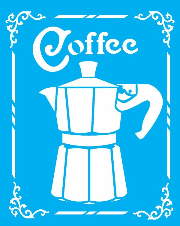 Stencil 20X25 Simples Coffee - Opa 2180