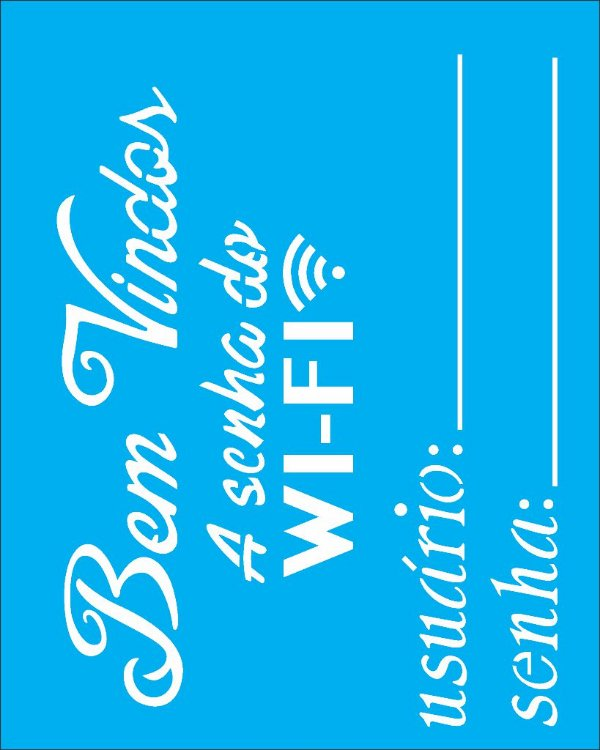 Stencil 20X25 Simples Wi-fi - Opa 2290