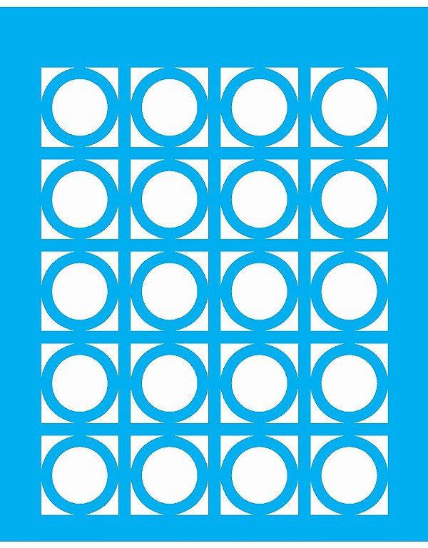 Stencil 20X25 Simples Estamparia Aneis - Opa 1240