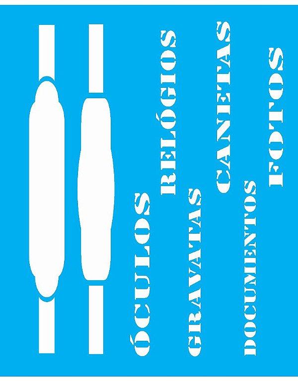 Stencil 20X25 Simples Palavras Masculinas - Opa 1247