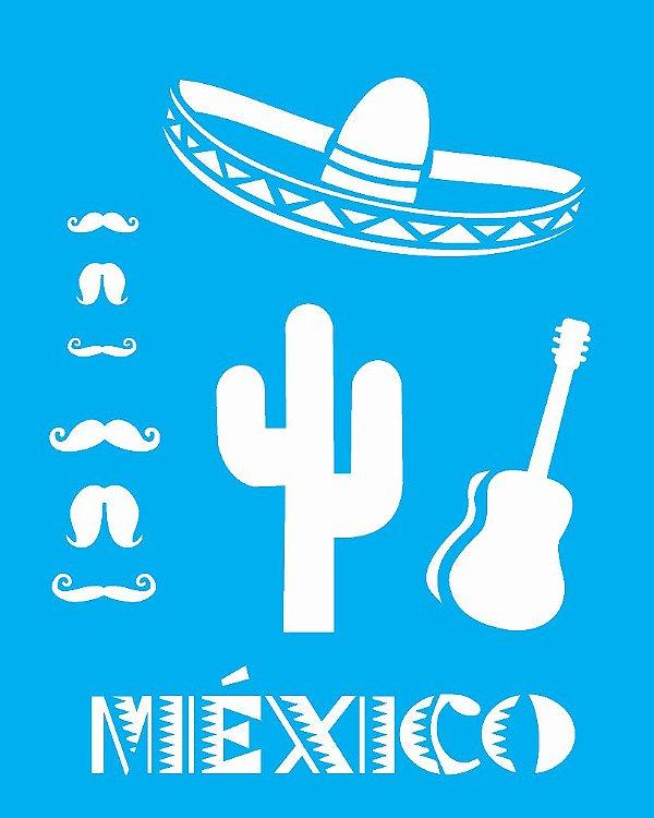 Stencil 20X25 Simples Paises Mexico - Opa 1331