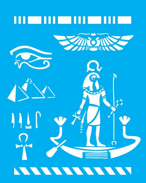 Stencil 20X25 Simples Paises Egito - Opa 1332