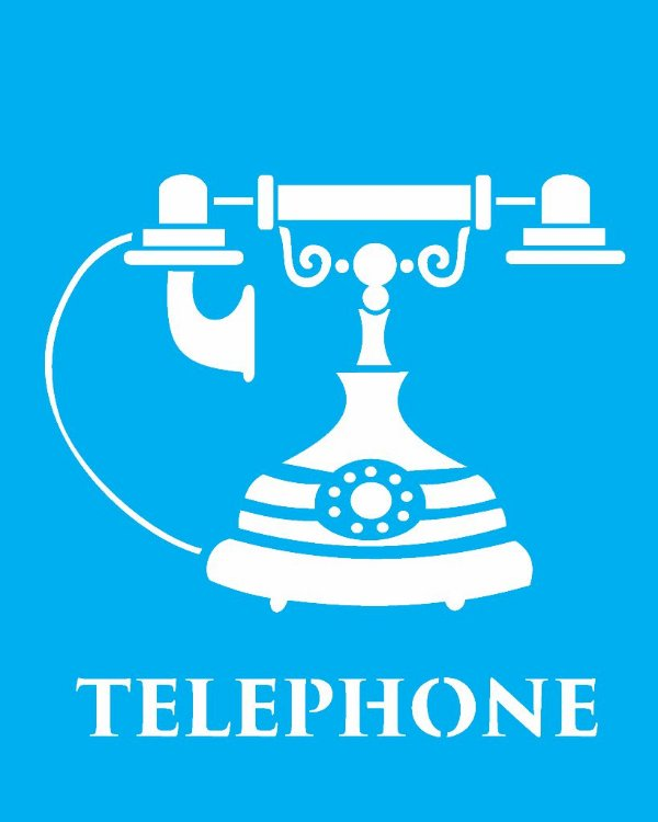 Stencil 20X25 Simples Telephone - Opa 1785