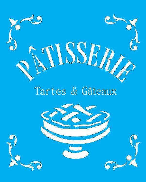 Stencil 20X25 Simples Patisserie Tartes e Gateaux - Opa 1784