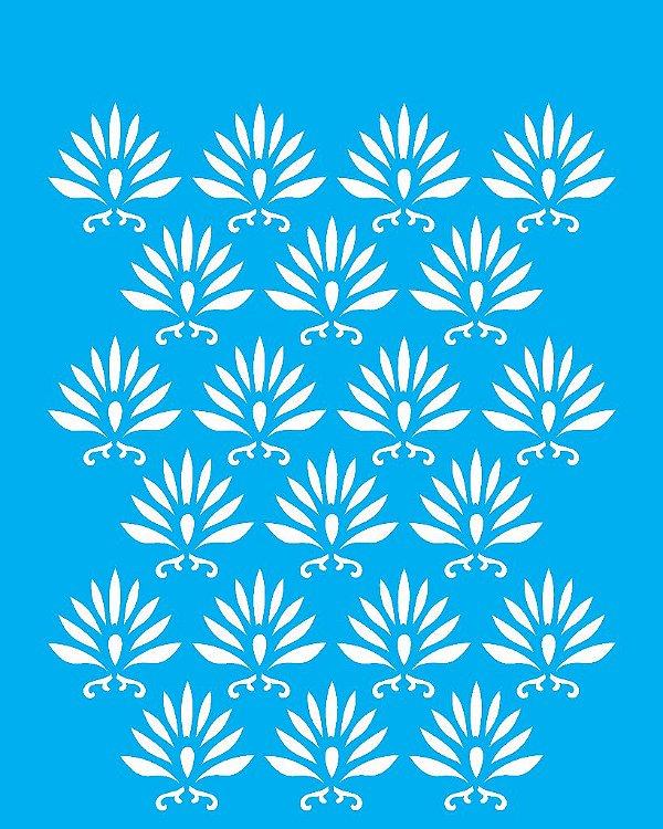 Stencil 20X25 Simples Estamparia Tropical  - Opa 1773
