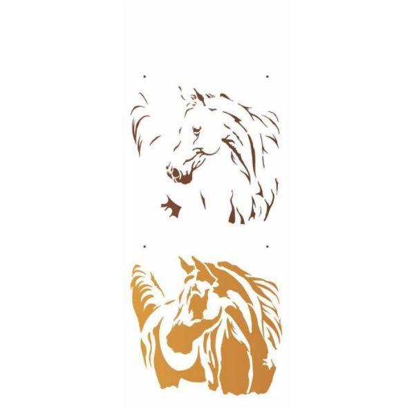 Stencil 17X42 Simples – Animais Cavalo - OPA2577