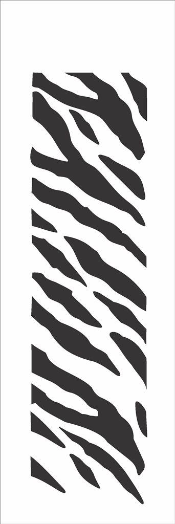 Stencil OPA Simples 10 x 30 cm 044 Estamparia Pele Zebra