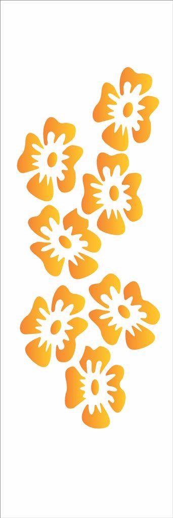 Stencil OPA Simples 10 x 30 cm 027 Flores Tropicais