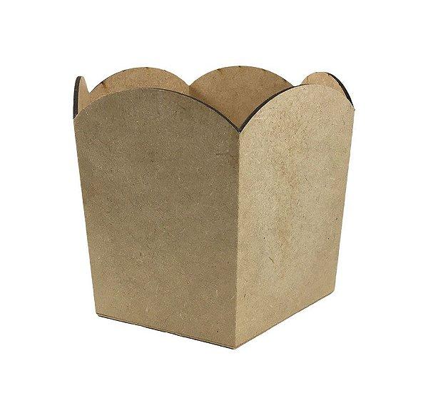Porta Panetone MDF Sextavado Liso Onda