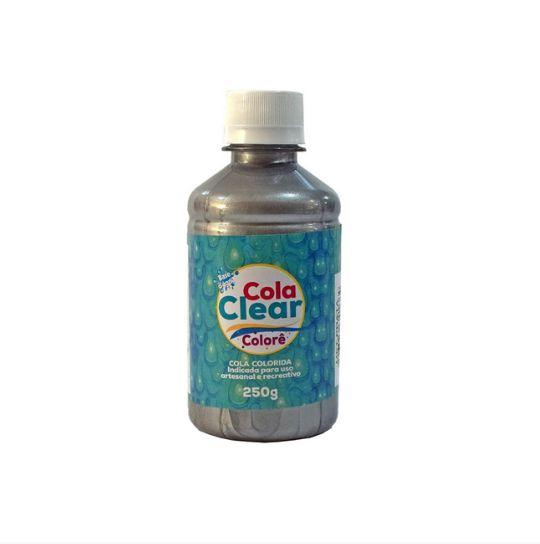 Cola Clear Colorê 250g Glitter - Metálica Prata