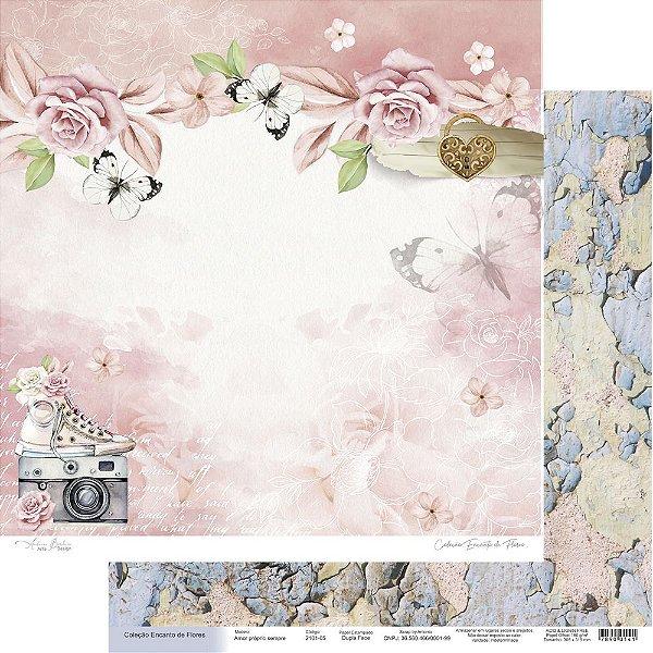 Papel Para Scrap Encanto de Flores - Amor próprio sempre - Scrap By Antonio 2101-05
