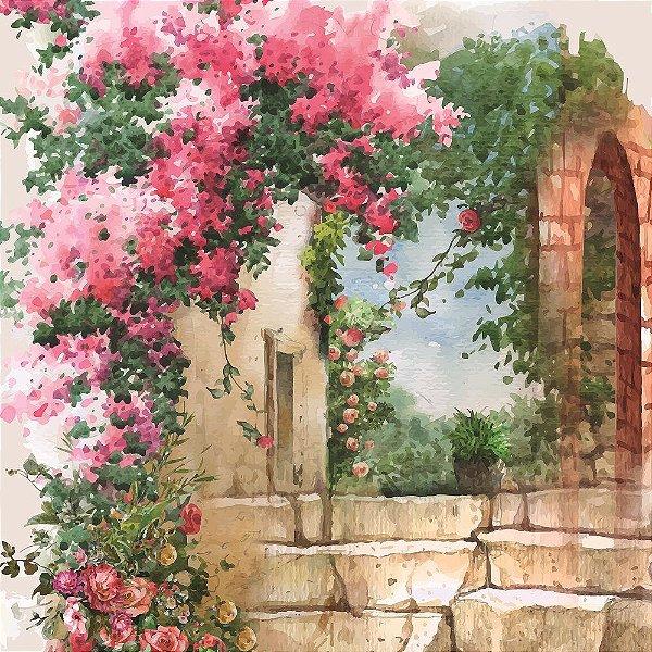 Papel Para Scrap Encanto de Flores - A arte que transforma - Scrap By Antonio 2101-07