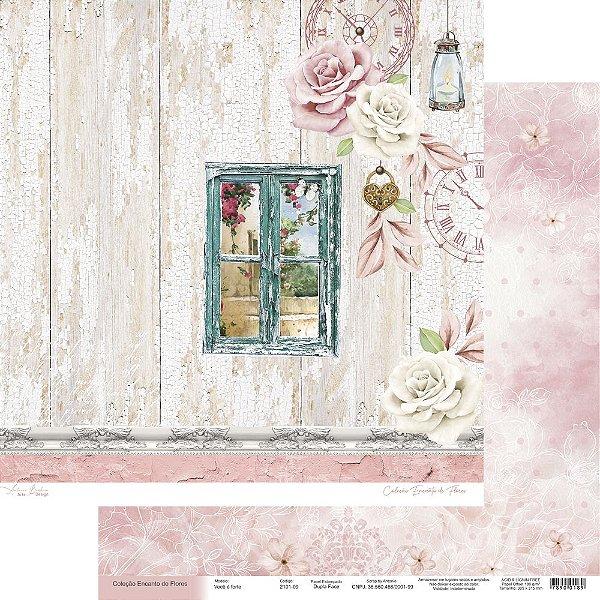 Papel Para Scrap Encanto de Flores - Você é fonte - Scrap By Antonio 2101-09