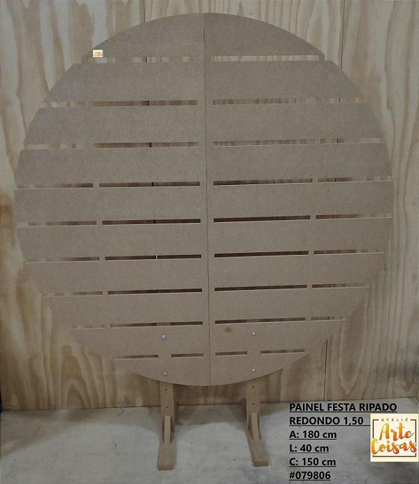 Painel Redondo Vazado 1,50 Para Decoração Em MDF