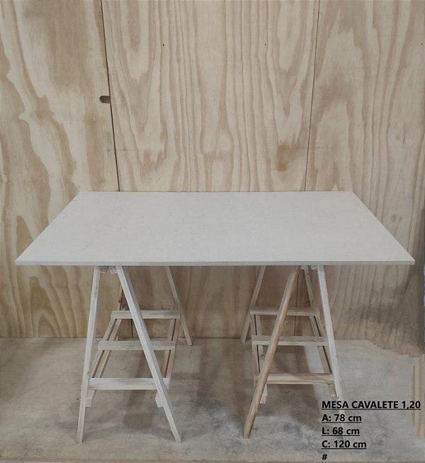 Mesa Cavalete Completa 1,20 Em MDF
