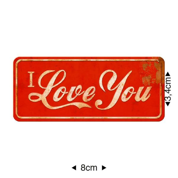 APM8-338 Aplique Em Papel E MDF - I LOVE YOU