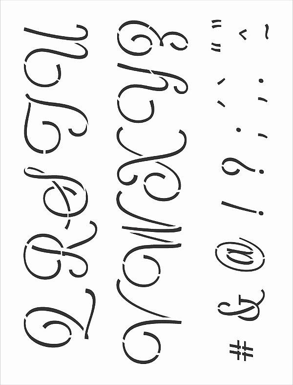 Stencil 32x42 Alfabeto Cursivo Maiúsculo II - OPA 3070