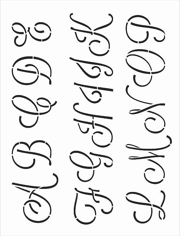 Stencil 32x42 Alfabeto Cursivo Maiúsculo I - OPA 3069