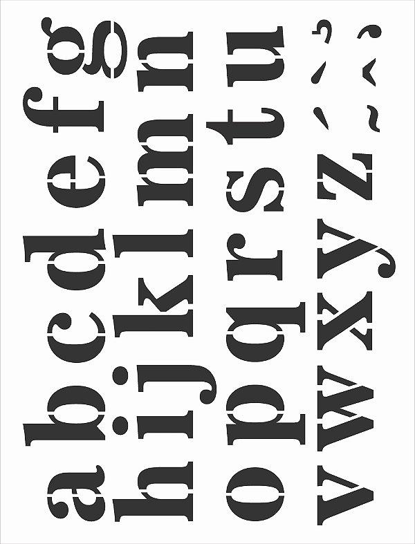 Stencil 32x42 Alfabeto Reto Minúsculo I - OPA 3065