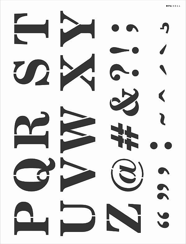 Stencil 32x42 Alfabeto Reto Maiusculo II - OPA 3064