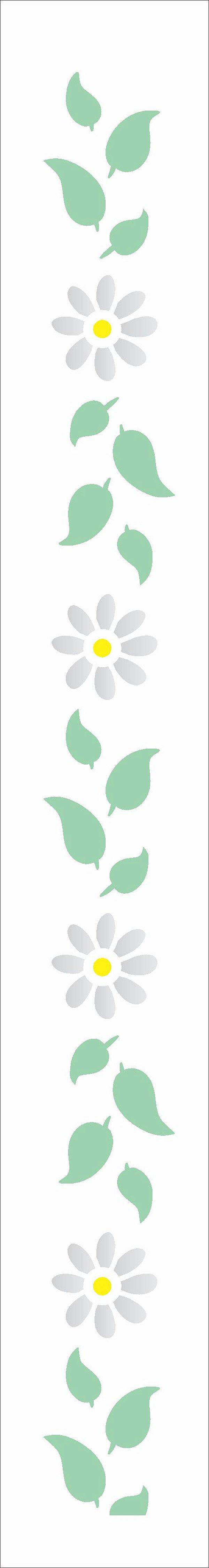 Stencil 4X30 Simples – Flores Margaridas III - OPA 3059