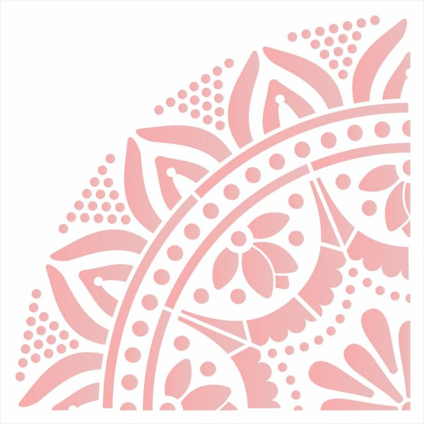 Stencil 30,5X30,5 – Mandala GR Renda - OPA 2595