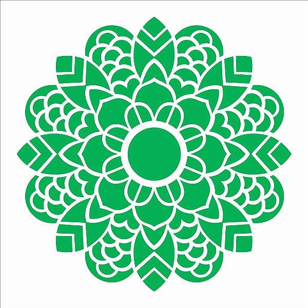 Stencil 30,5X30,5 – Mandala Folhas - OPA 2475