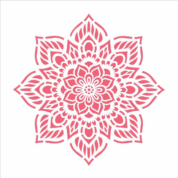 Stencil 30,5X30,5 – Mandala Flor Oito Pontas - OPA 2471