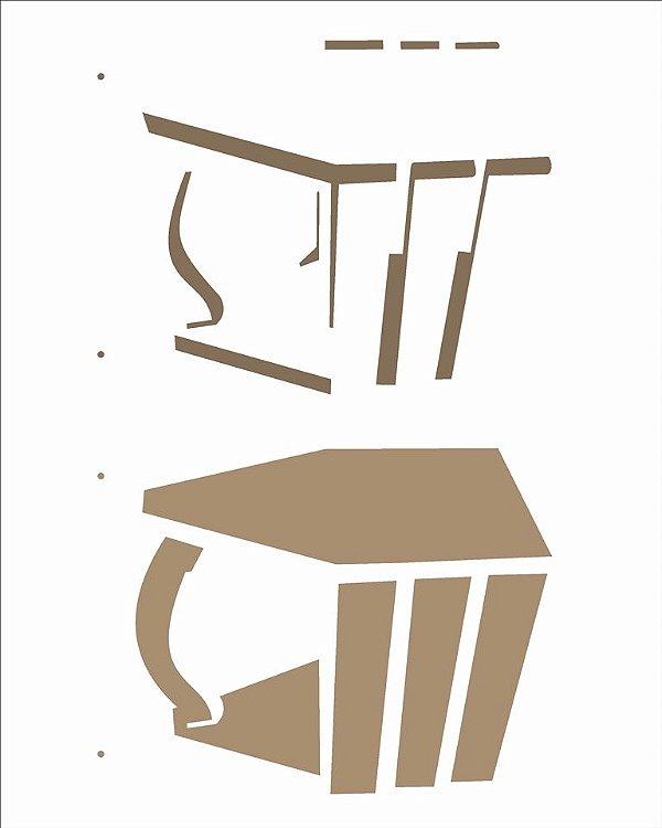 Stencil 20x25 Cesto - OPA 2510