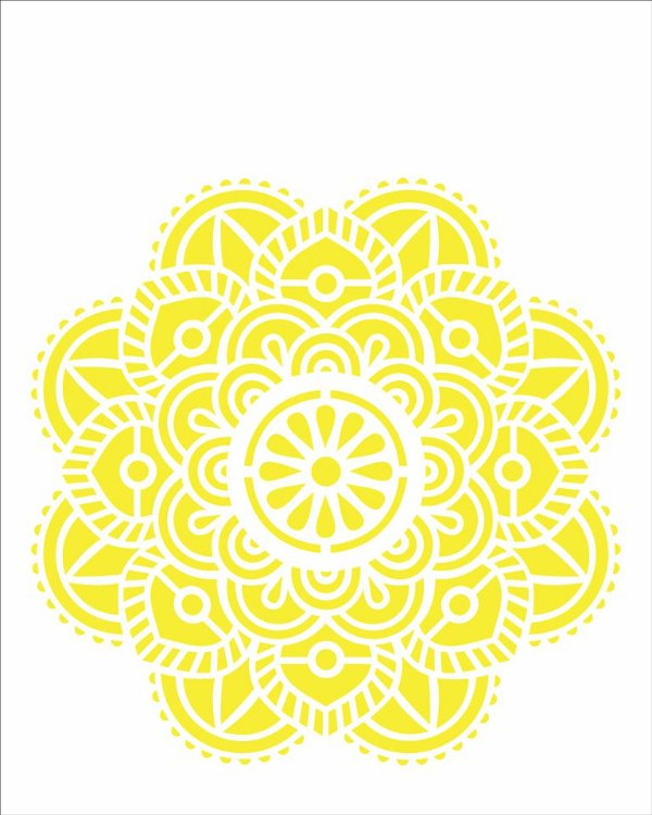 Stencil 20x25 Mandala Flor Vitral - OPA 2463