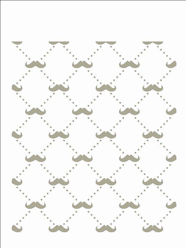Stencil 15x20 Estamparia Bigode - OPA 2439