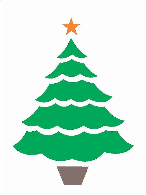 Stencil 15x20 Pinheiro de Natal - OPA 873