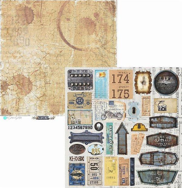 Papel Scrapbook Carina Sartor - Coleção Hypster Style - HYP-07