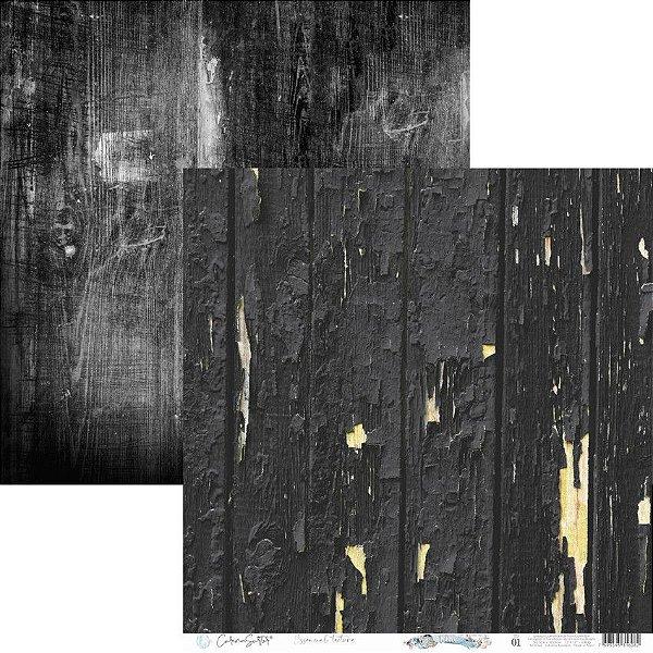 Papel Scrapbook Carina Sartor - Coleção Essencial Texture - TEX-01