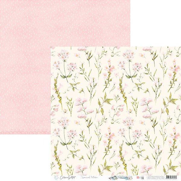Papel Scrapbook Carina Sartor - Coleção Básico Rose Relax - BASE-31