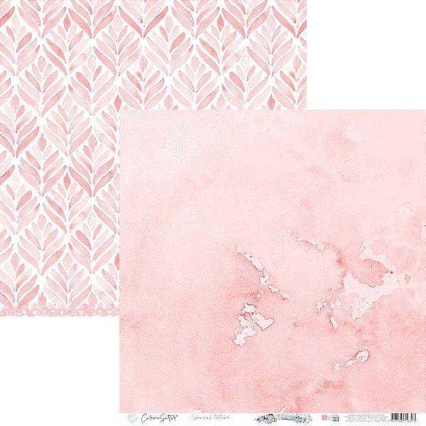 Papel Scrapbook Carina Sartor - Coleção Básico Rose Relax - BASE-33