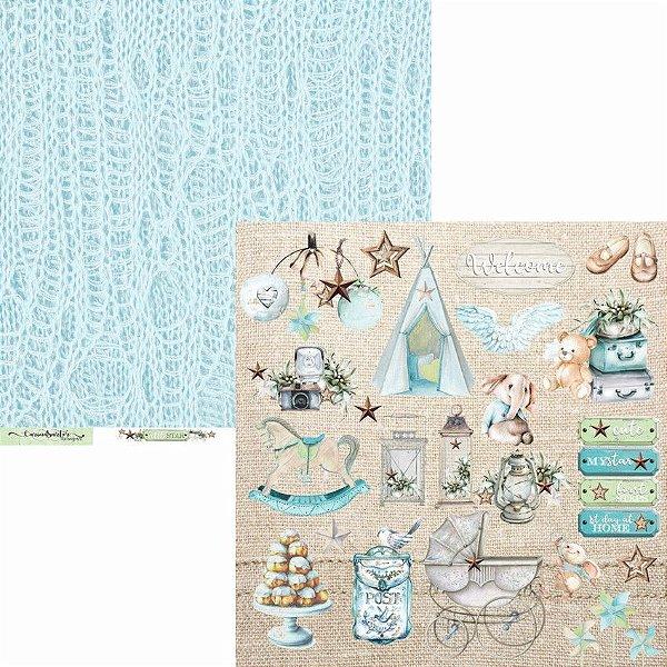 Papel Scrapbook Carina Sartor - Coleção Little Star - LIS-02